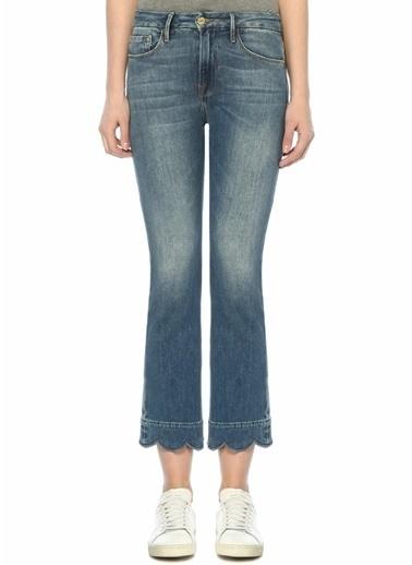 Frame Denim Normal Bel Jean Pantolon Mavi